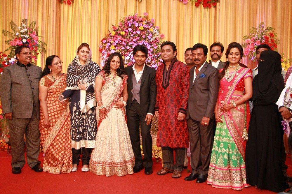 Ar Rahman At Gv Prakash Saindhavi Wedding Reception