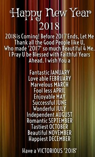 Inspirational Sms For Happy New Year 2018 To Motivate Friends And Family.  Learn From Last Year, Live For TODAY And Hope For A Happy New Year 2018 2u2026