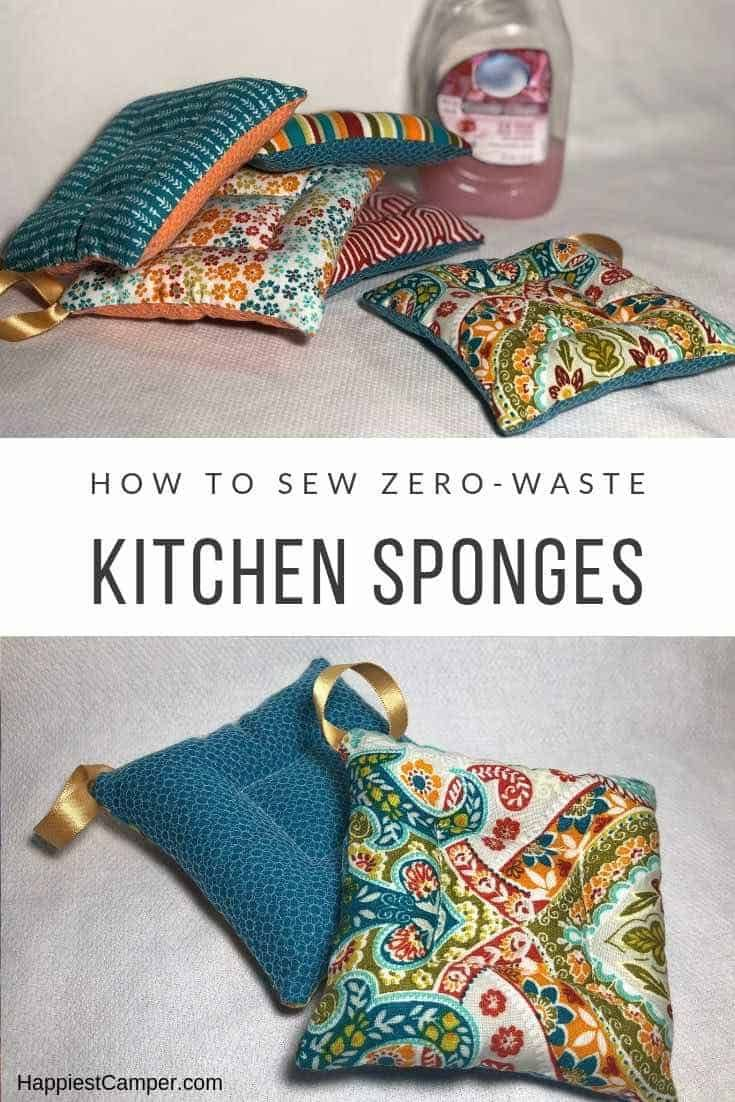 Diy Zero Waste Kitchen Sponge Easy Sewing Beginner