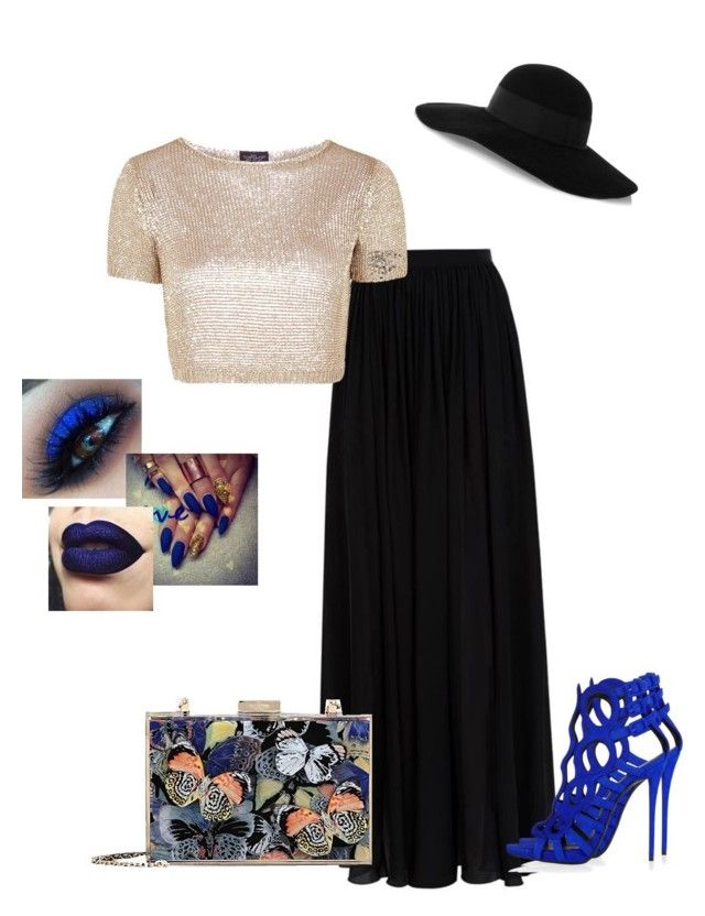 """""""Untitled #257"""" by xoxo-maneshass on Polyvore featuring Elie Saab, Topshop, Valentino and Eugenia Kim"""