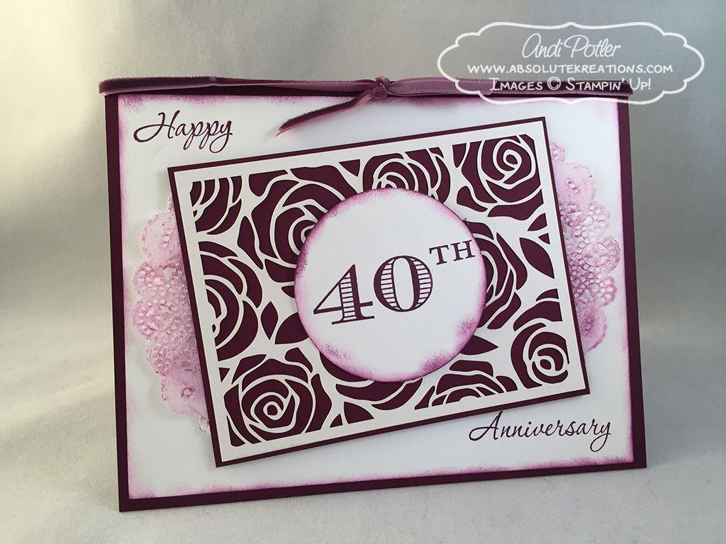 40th Anniversary Karten basteln, Karten, Basteln