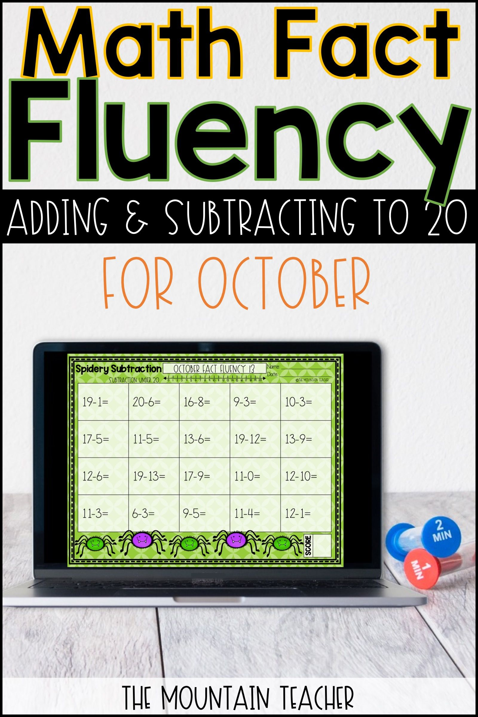 October Math Fact Fluency Worksheets Printable And Google Slides Fact Fluency Worksheets Math Fact Fluency Math Facts [ 2400 x 1600 Pixel ]