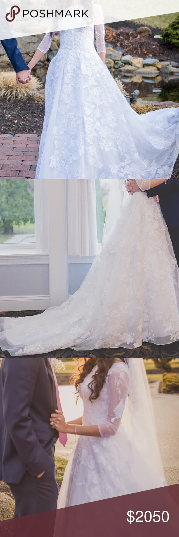 Wedding dress this is a classic timeless white high neck