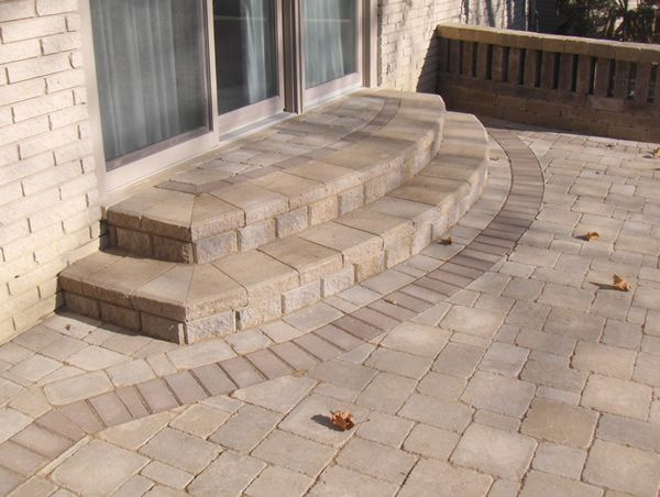 Brick paver stairs | Michigan Brick Porches and Brick ...