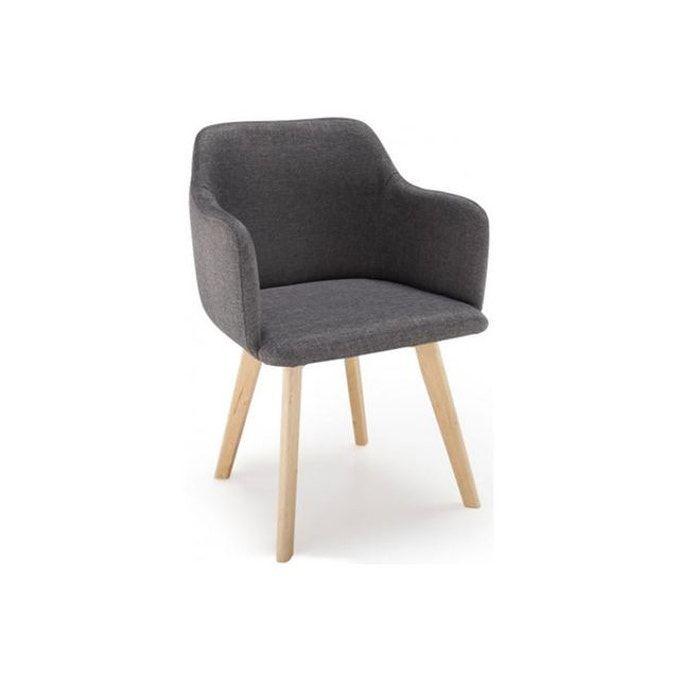 Chaise Scandinave Tissu Gris Fonce Crush En 2020 Chaises Scandinaves Tissu Chaise Style Scandinave Chaise Scandinave