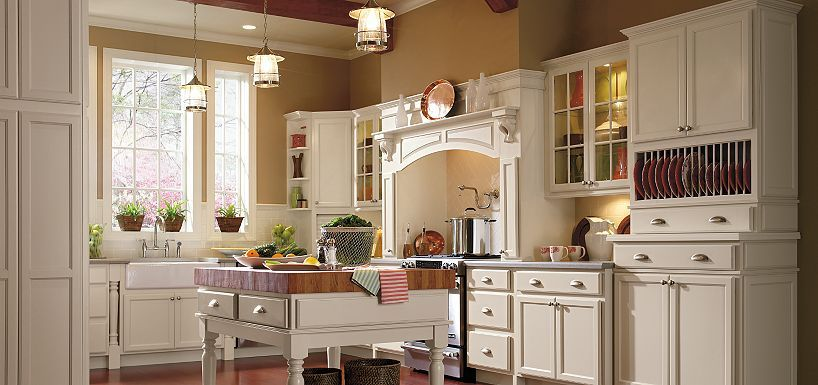 Linden maple by thomasville kitchen cabinets wall for Thomasville kitchen cabinets