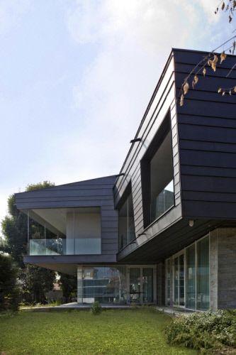 Villa Privata Torino Italia By Studio Ing Amato Italy Zinc Architecture Facade Anthrazinc Contemporaryhouse