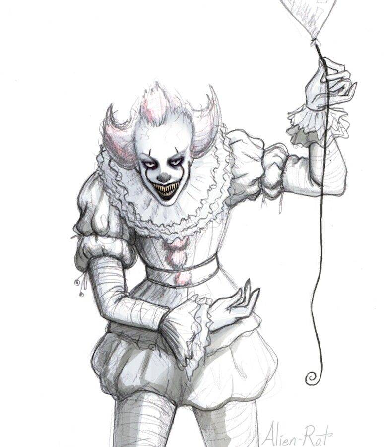 Sneaks Pennywise Into Her Colorboards