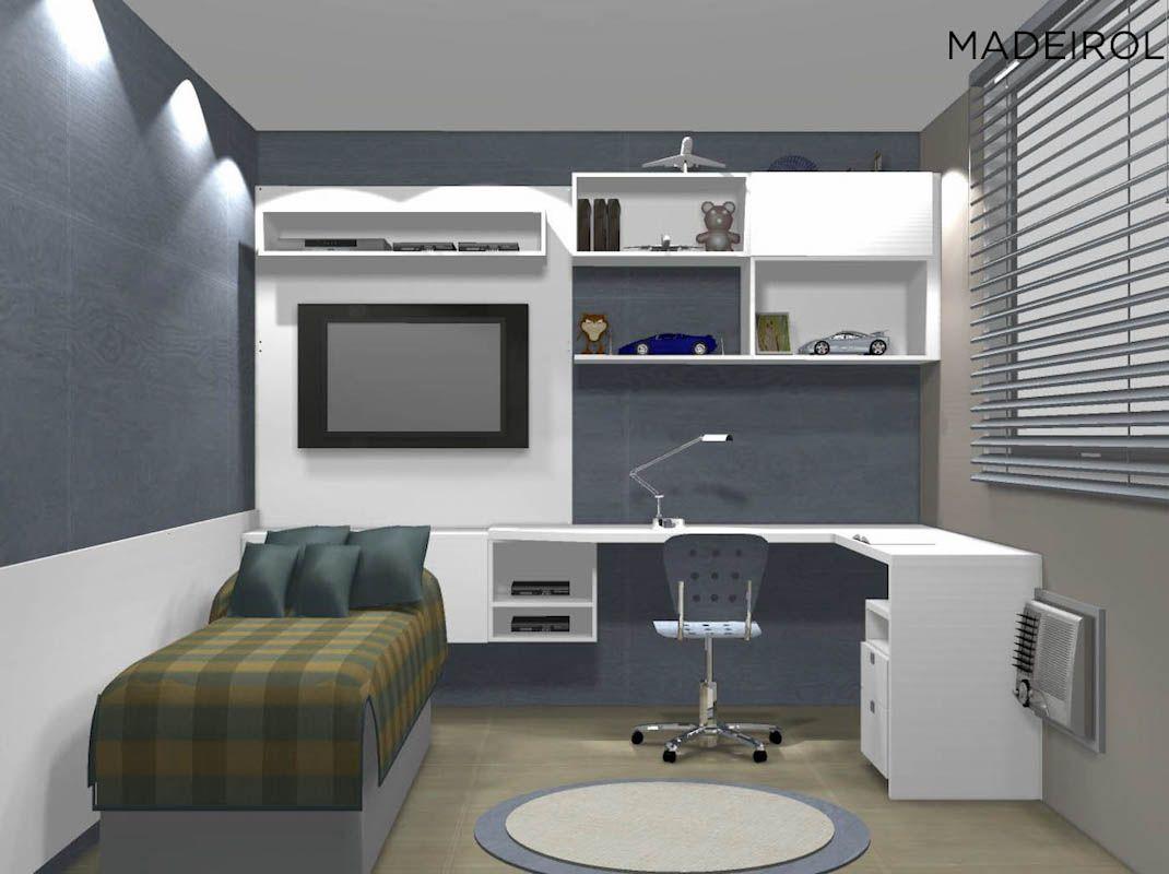 Projetos modernos de quartos para jovens Quarto jovem ~ Quarto Planejado De Rapaz