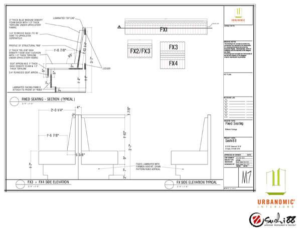 Banquet Detail Section Kitchen Floor Plans Wall Seating Restaurant Booth