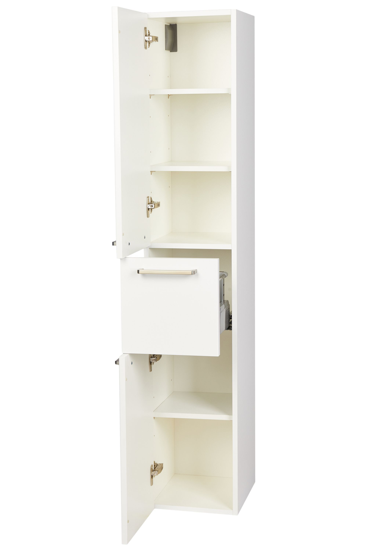 Nobilia Badezimmer Midischrank 2 Turen Schublade 30 Cm X 158 Cm Weiss In 2021 Midischrank Schrank Nobilia