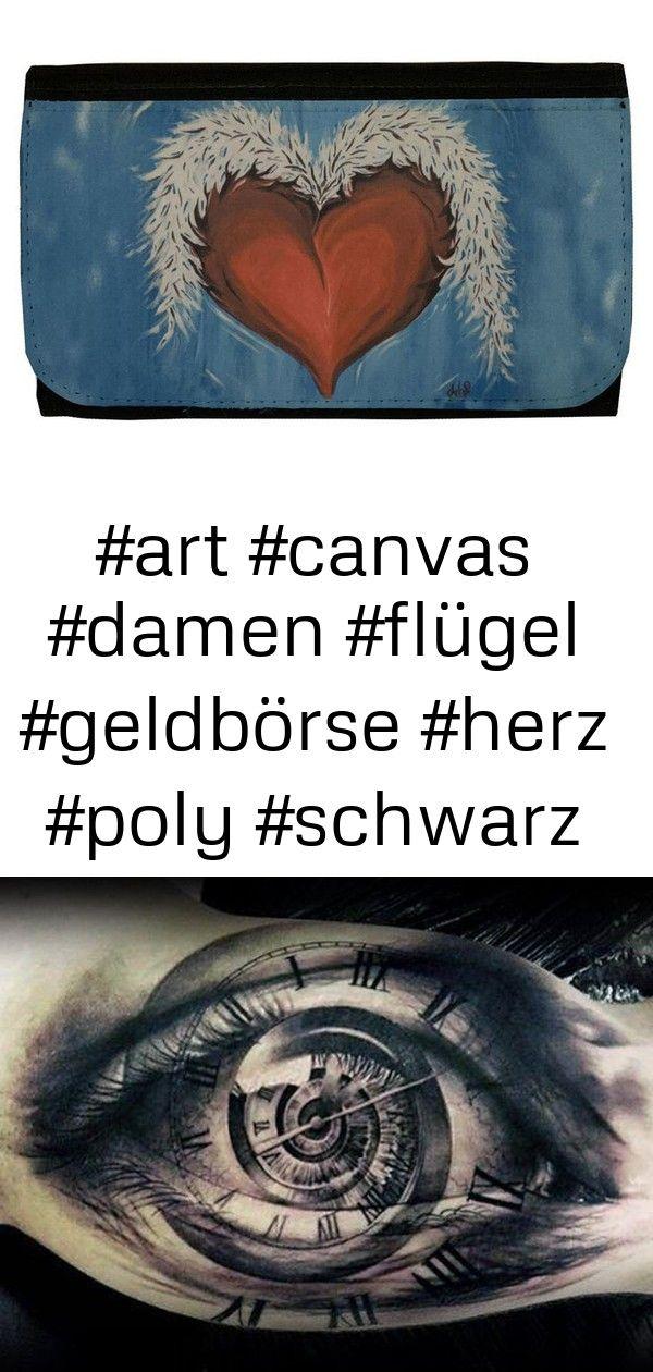 wallet boutiques 5 Wallet boutiques Womens Wallet Black Poly Canvas Heart and Wings Tattoo Art Purple Leopard Boutique  Damen Geldbörse Schwarz Poly Canvas Herz und...