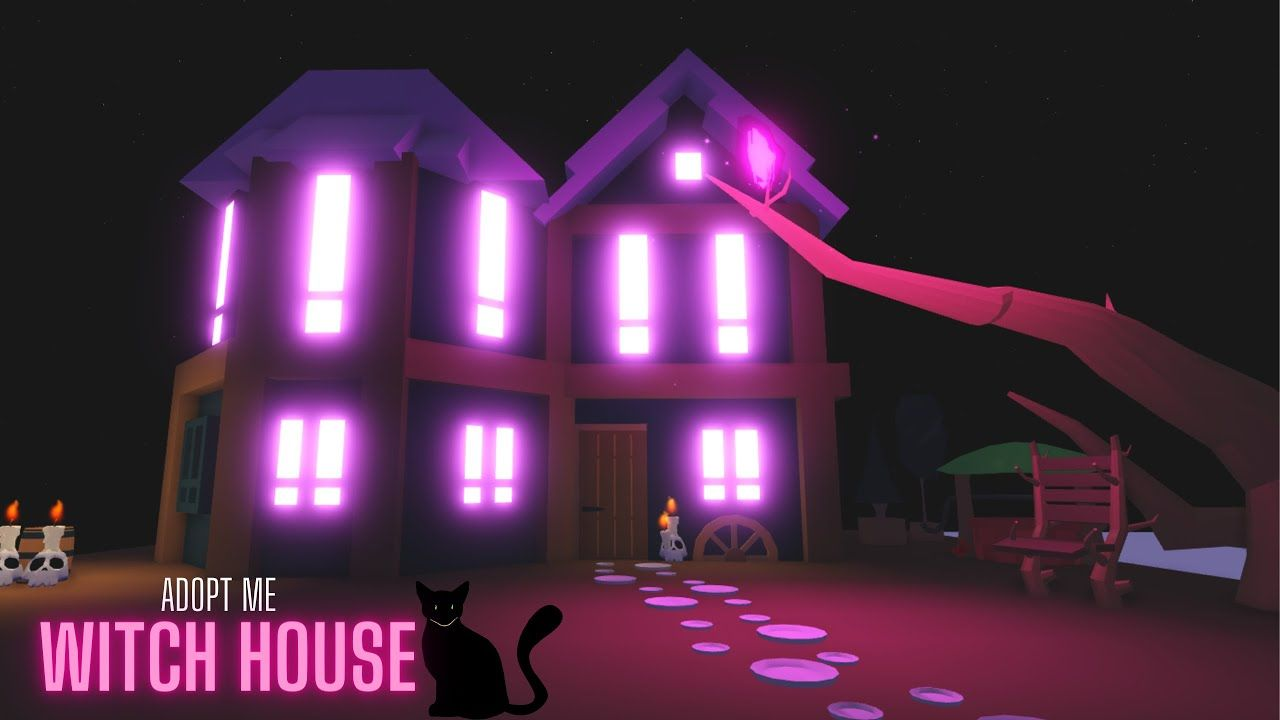 Glitch House Witch House Adopt Me Speed Build House Tour Youtube Witch House Building A House House Tours