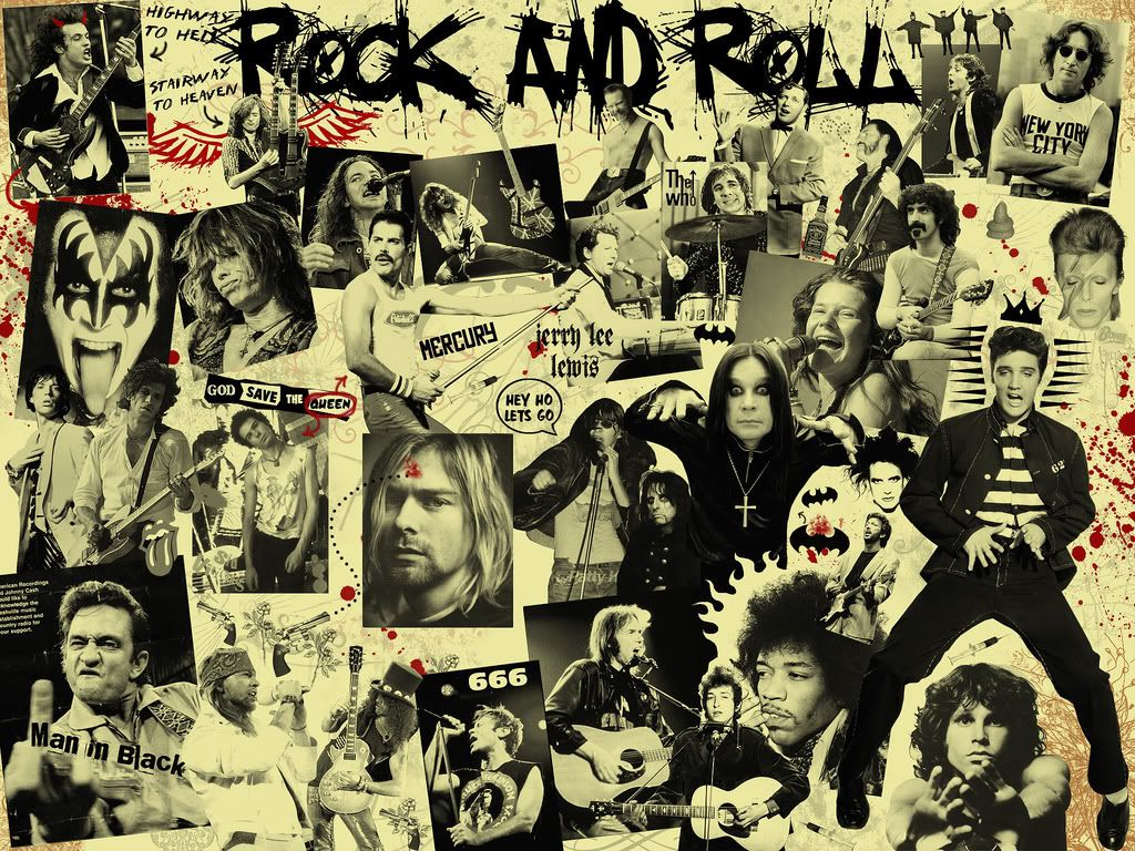 Rock N Roll Collage Rock, roll, Rock music, Christian