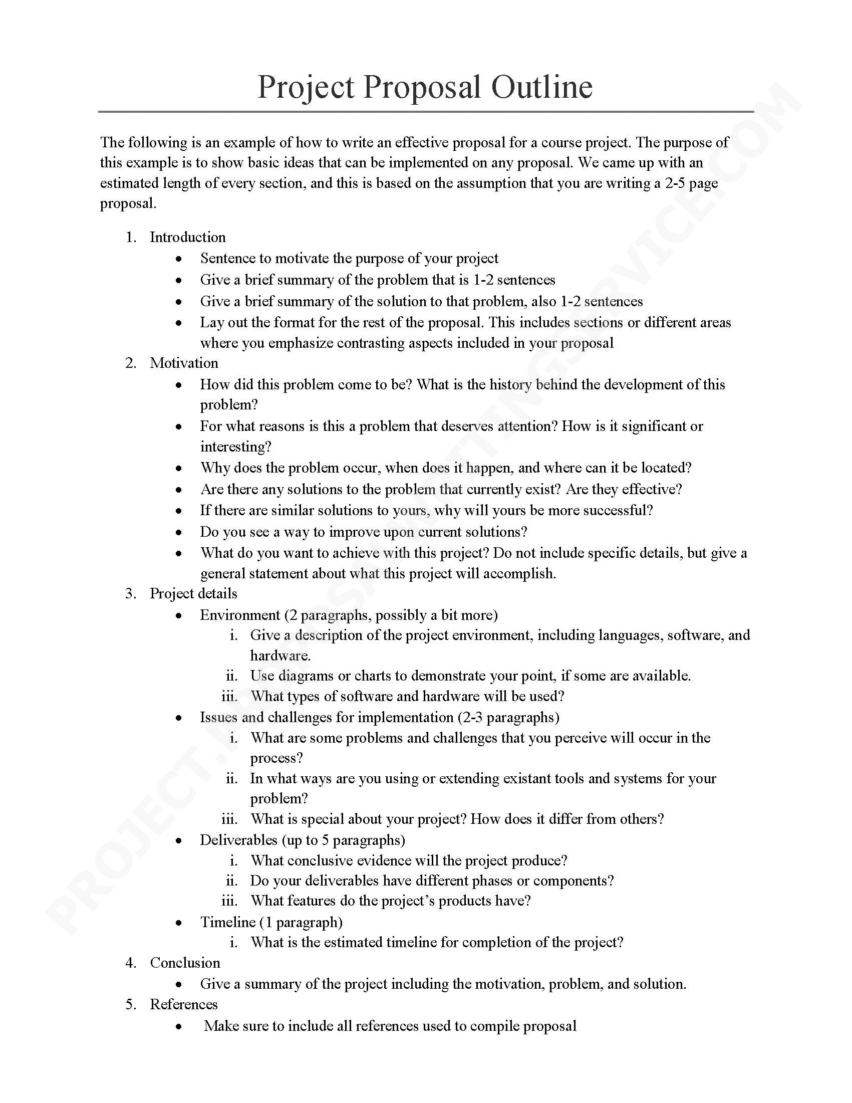 How to write a proposal essay outline