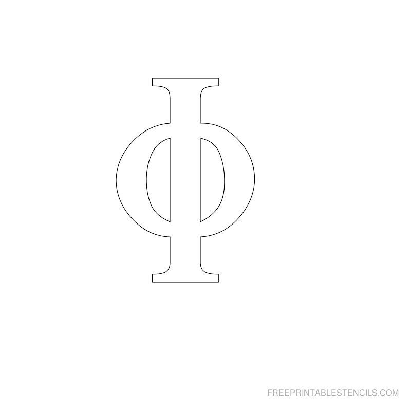 Printable Greek Alphabet Stencil I | For the Home | Alphabet