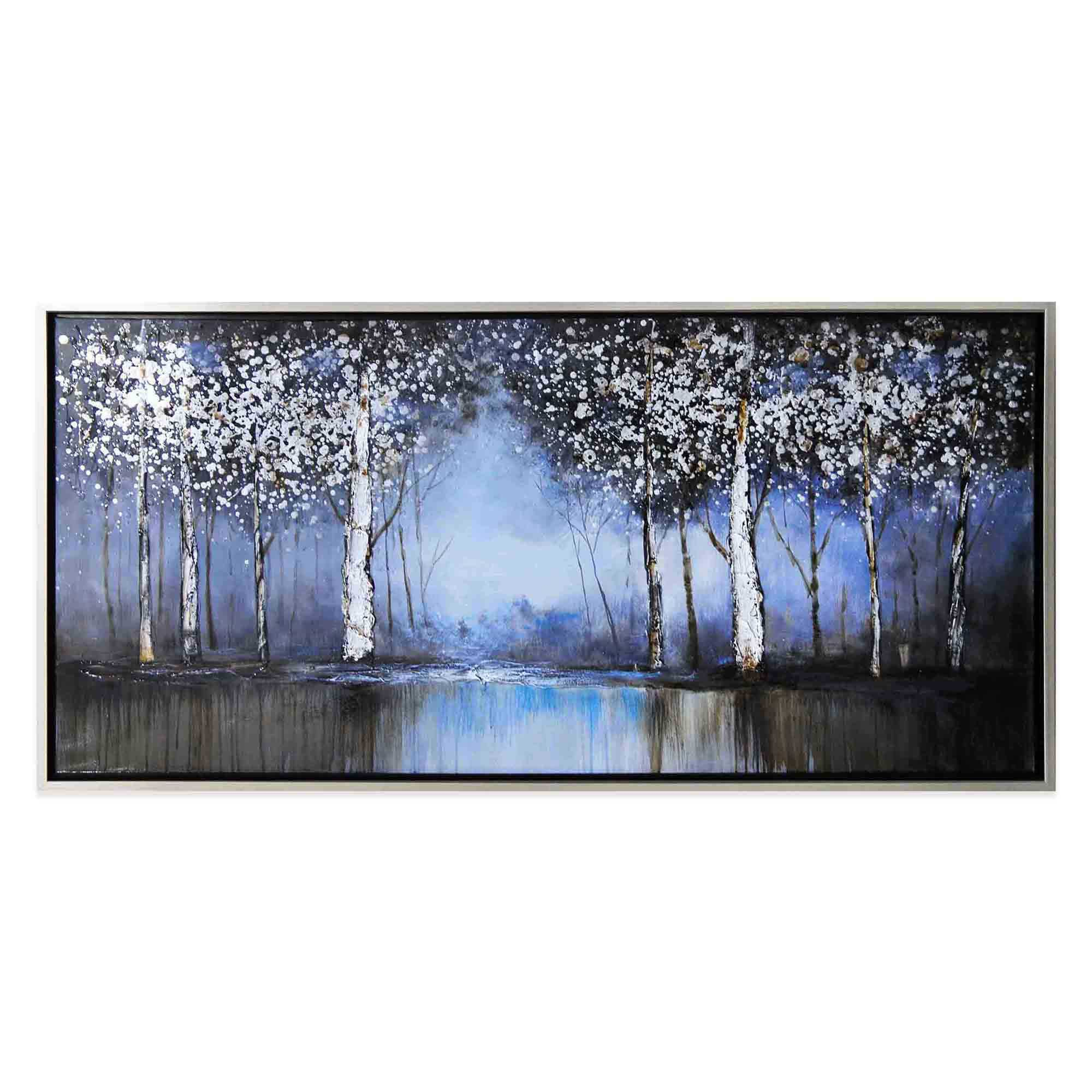 Cobalt Tree Hand Painted Canvas Wall Art Bed Bath & Beyond