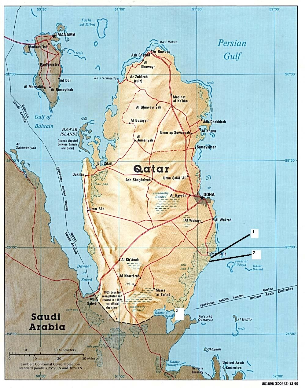 where I\'ve dived: Qatar (several more sites & wrecks than shown here ...