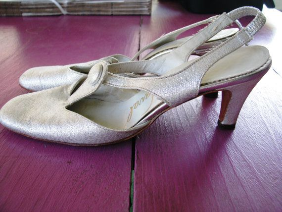 b9a2b900a382 Ted Saval vintage 50s evening shoes. Ted Saval made shoes for Carmen  Miranda and other stars. Buy at TheParachuteDrop on etsy for only  36.00