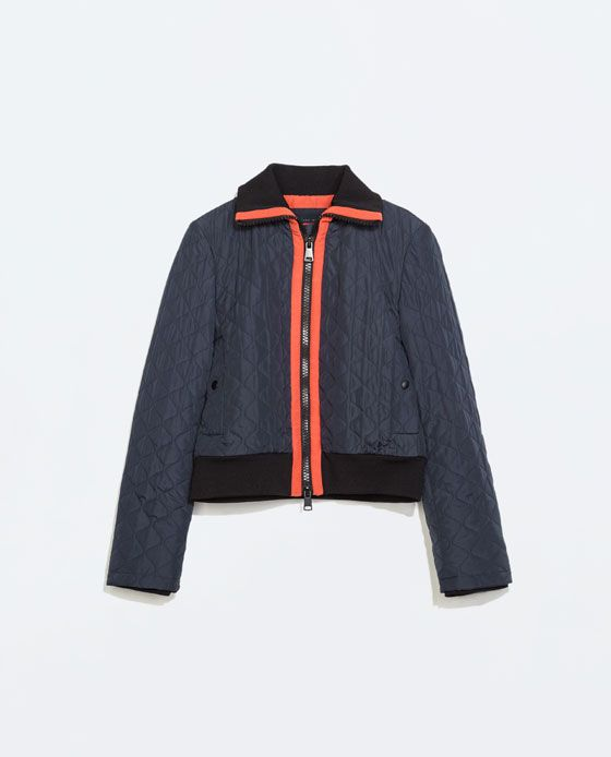 Image 6 of SHORT QUILTED JACKET from Zara