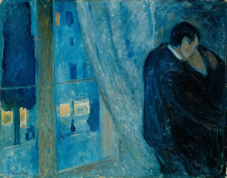 Edvard Munch - Kiss by the Window, 1892.