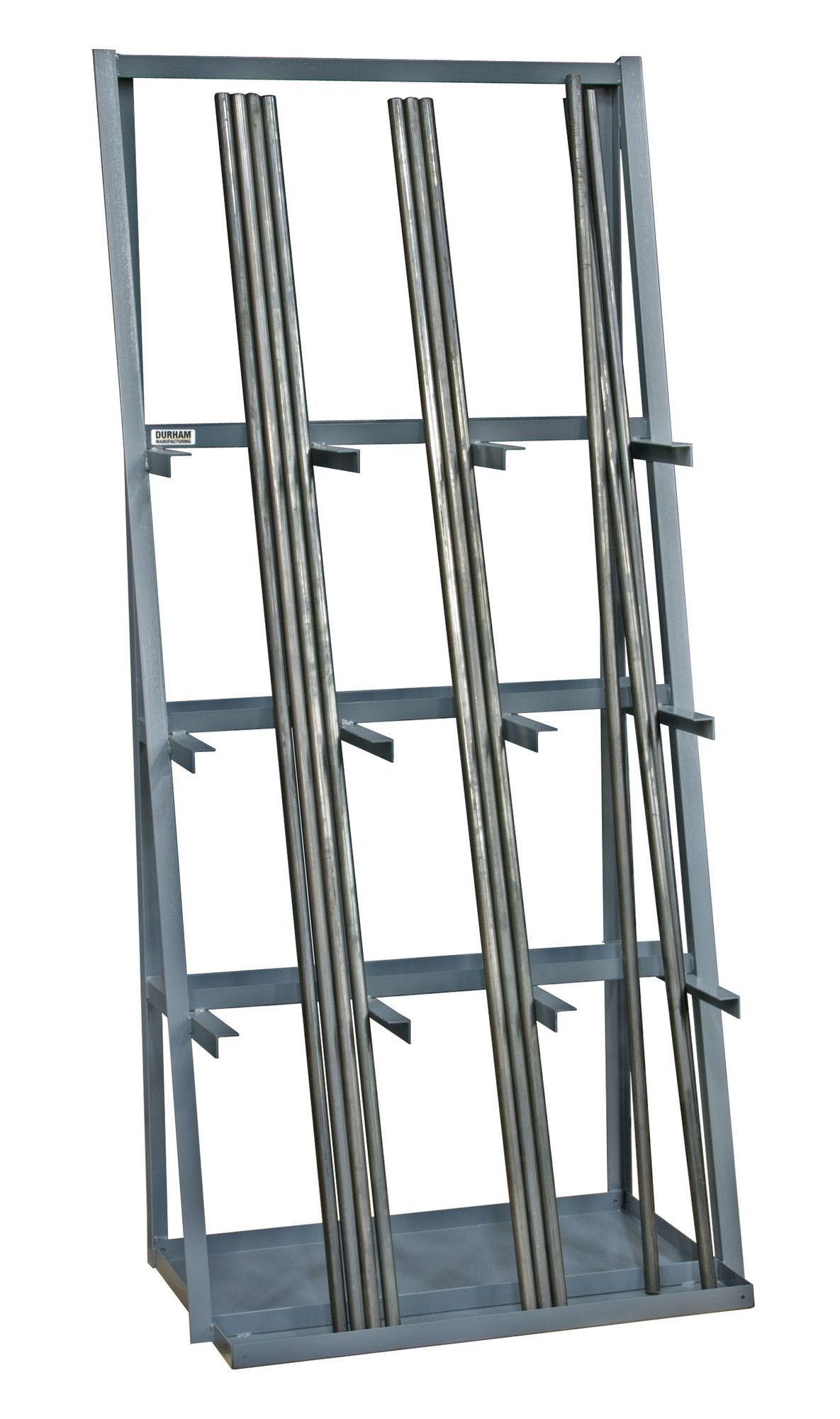 Durham Manufacturing 14 Gauge Steel Vertical Long Parts Storage Rack Metal Storage Racks Welding Table Welding