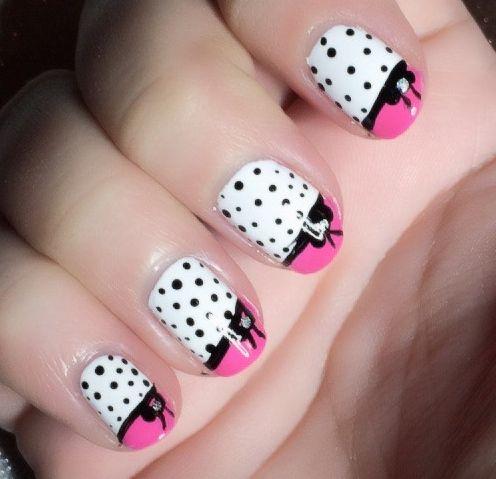 easy girly nail art tutorial  nail art for beginners