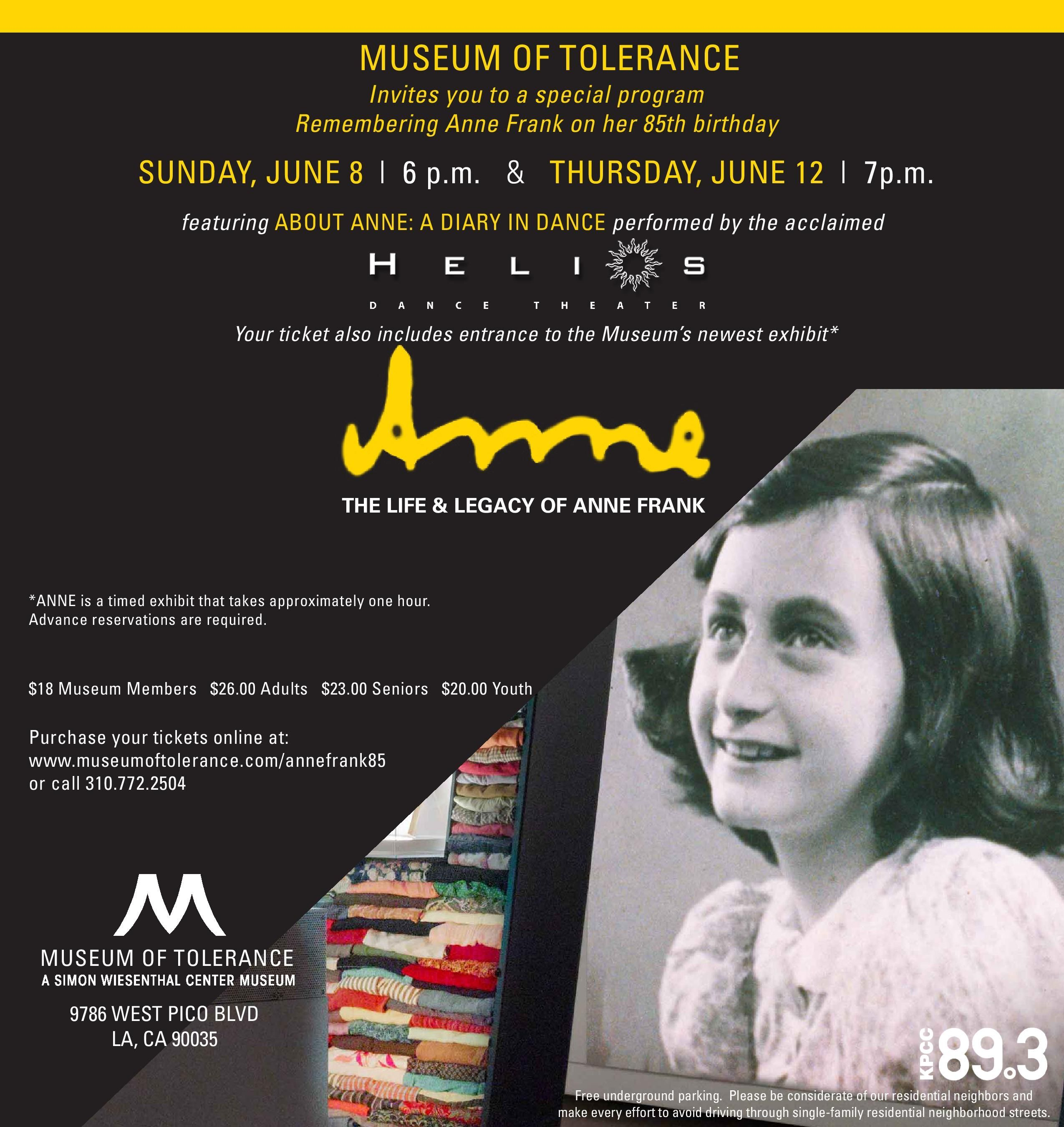 Remember Annefrank On What Would Have Been Her 85th Birthday