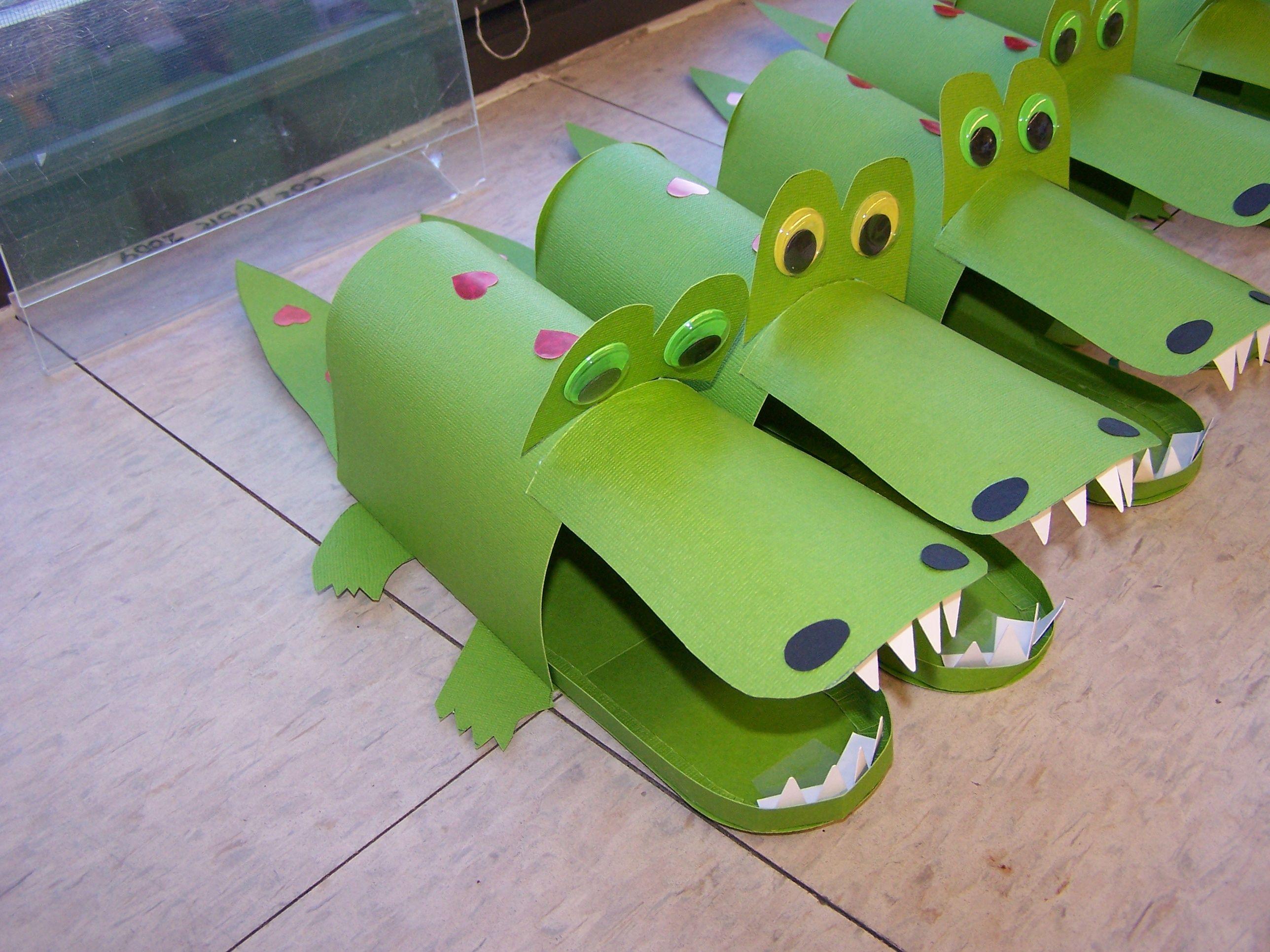 Alligator Pillow Craft Box Pattern 3d95