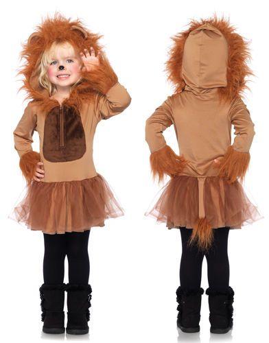 Details about Kids Cuddly Lion Girls Halloween Costume - kid halloween costume ideas