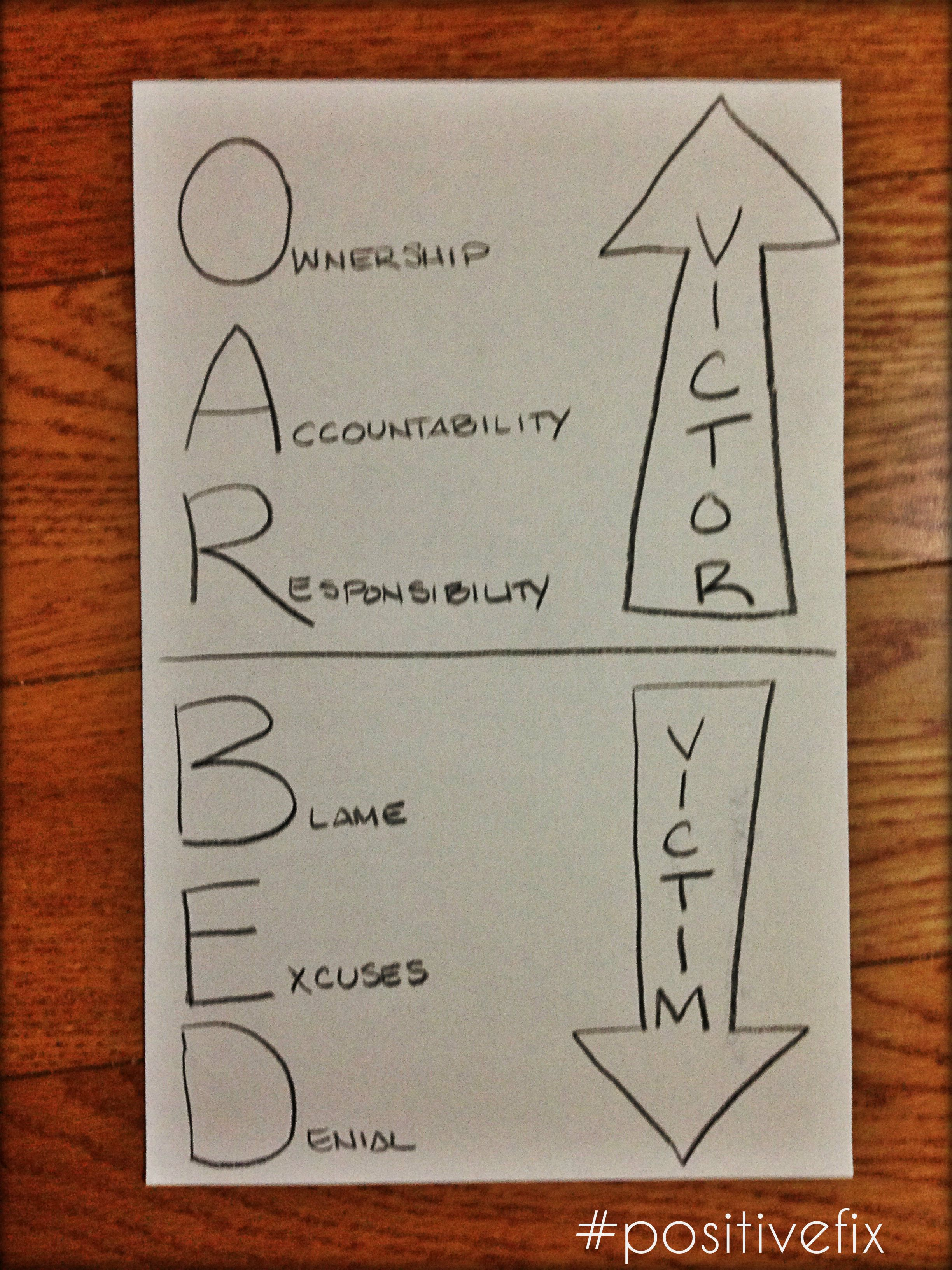 Live Above The Line Ownership Accountability Responsibility Blame Excuses