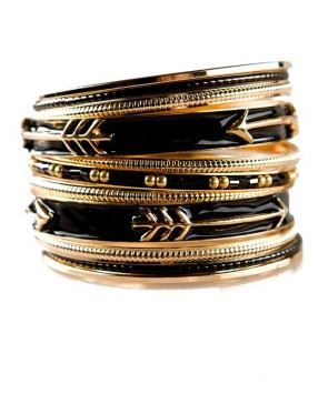Mocha Choca Arrow Bangle Bracelets from Mint and Lolly.Get it with Free shipping