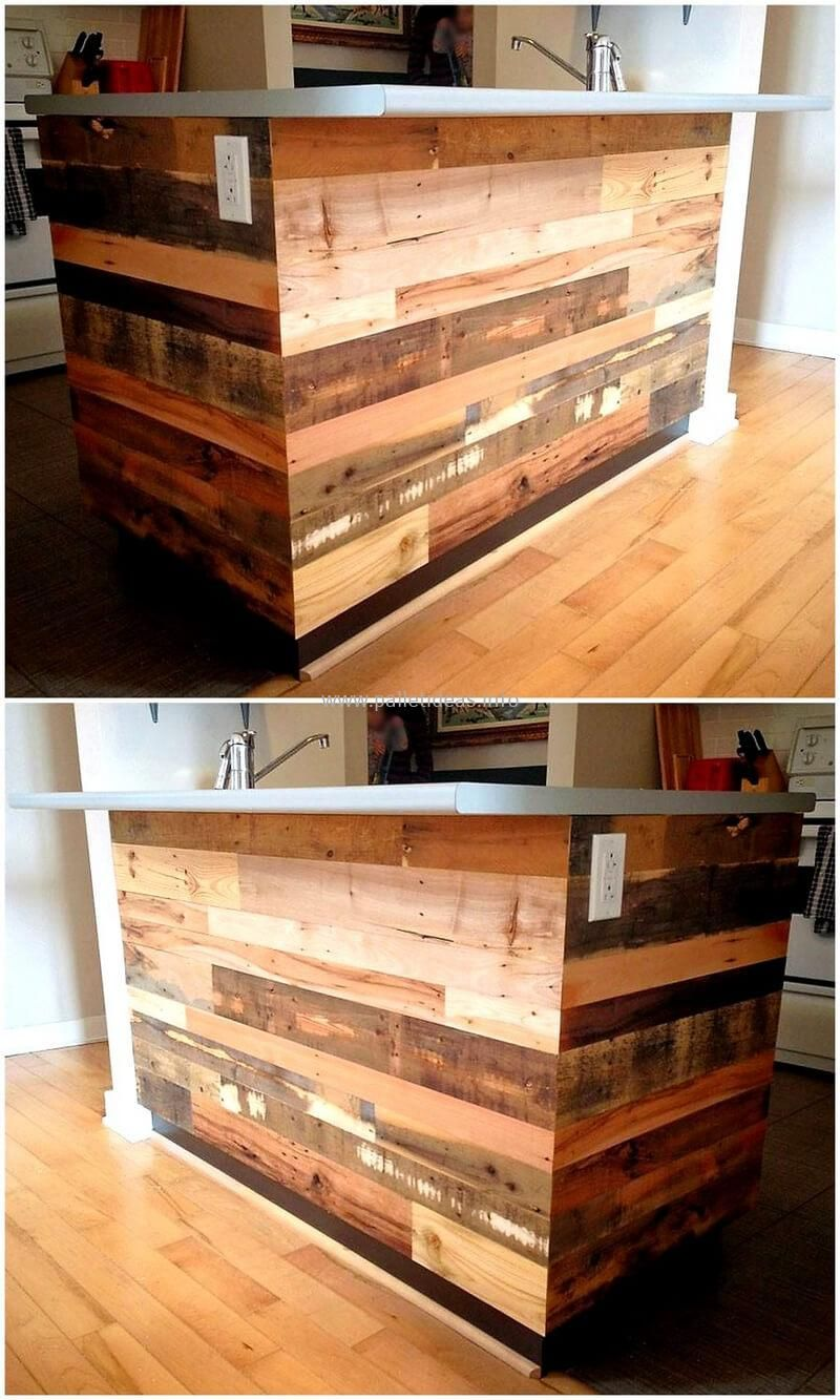 Easy Pallet Projects You Can Do At Home Wood Pallet Bar Pallet
