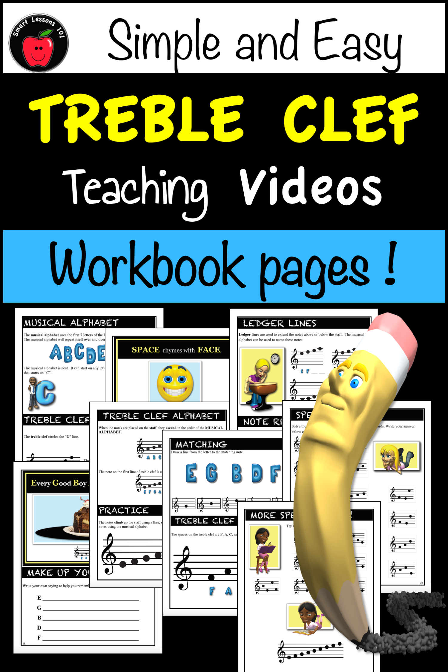 Music Theory Treble Clef Unit 9 Videos Music Worksheets