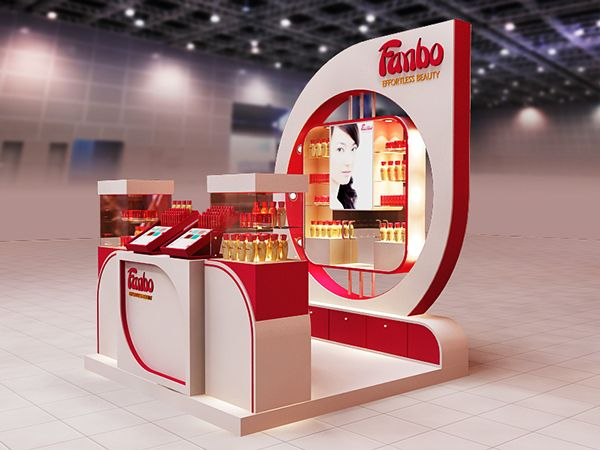 Cosmetic Exhibition Stand Design : Entries for fanbo cosmetics exhibition stand contest projects