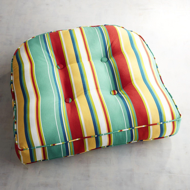 Contour Chair Cushion In Kinsey Stripe