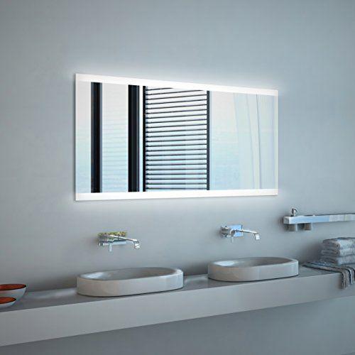 Noemi Neon Badspiegel Mit Beleuchtung B 100 Cm X H 70 Cm