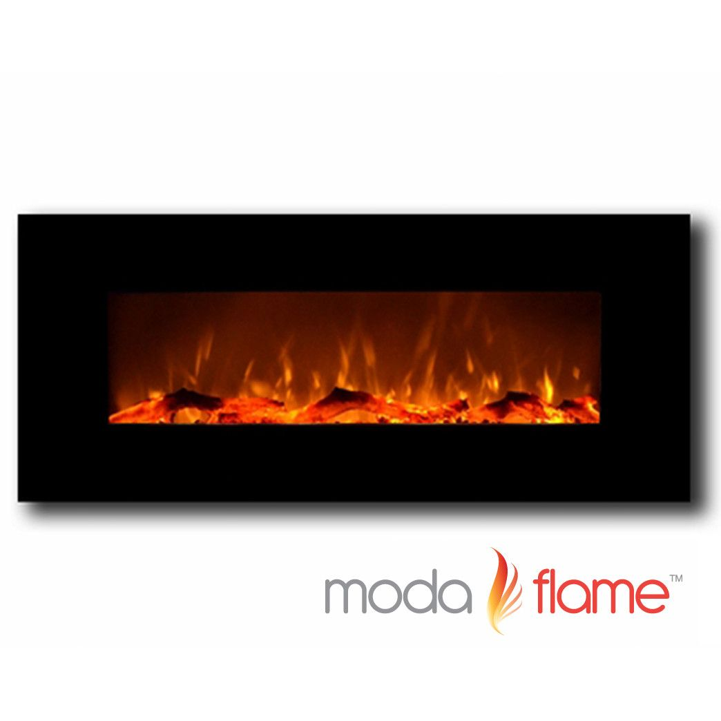 Moda Flame Houston Wall Mounted Electric Fuel Fireplace Wall