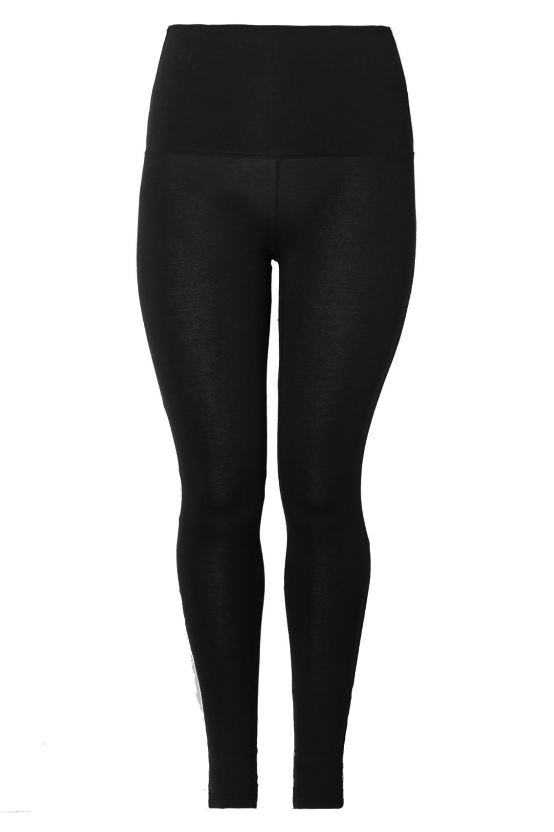 a117efe3113a5 Black TUMMY CONTROL Soft Touch Leggings Plus Size 16 to 36 | Casual ...