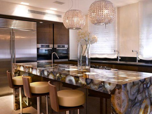 Agate Countertops   Love The Sturdy Horizontal Feel Of This Bar....ability