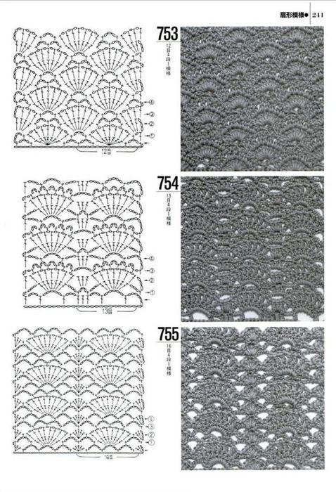 153 (478x700, 269Kb)   muestras punto   Pinterest   Tejido y Puntos