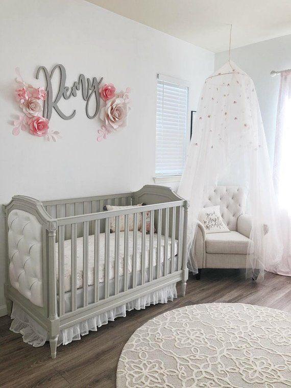 Kinderzimmer-Wand-Dekor - Kinderzimmer Papier Blumen - erröten Kinderzimmer Dekor - rosa Kindergarten Papierblumen (Code:#120)