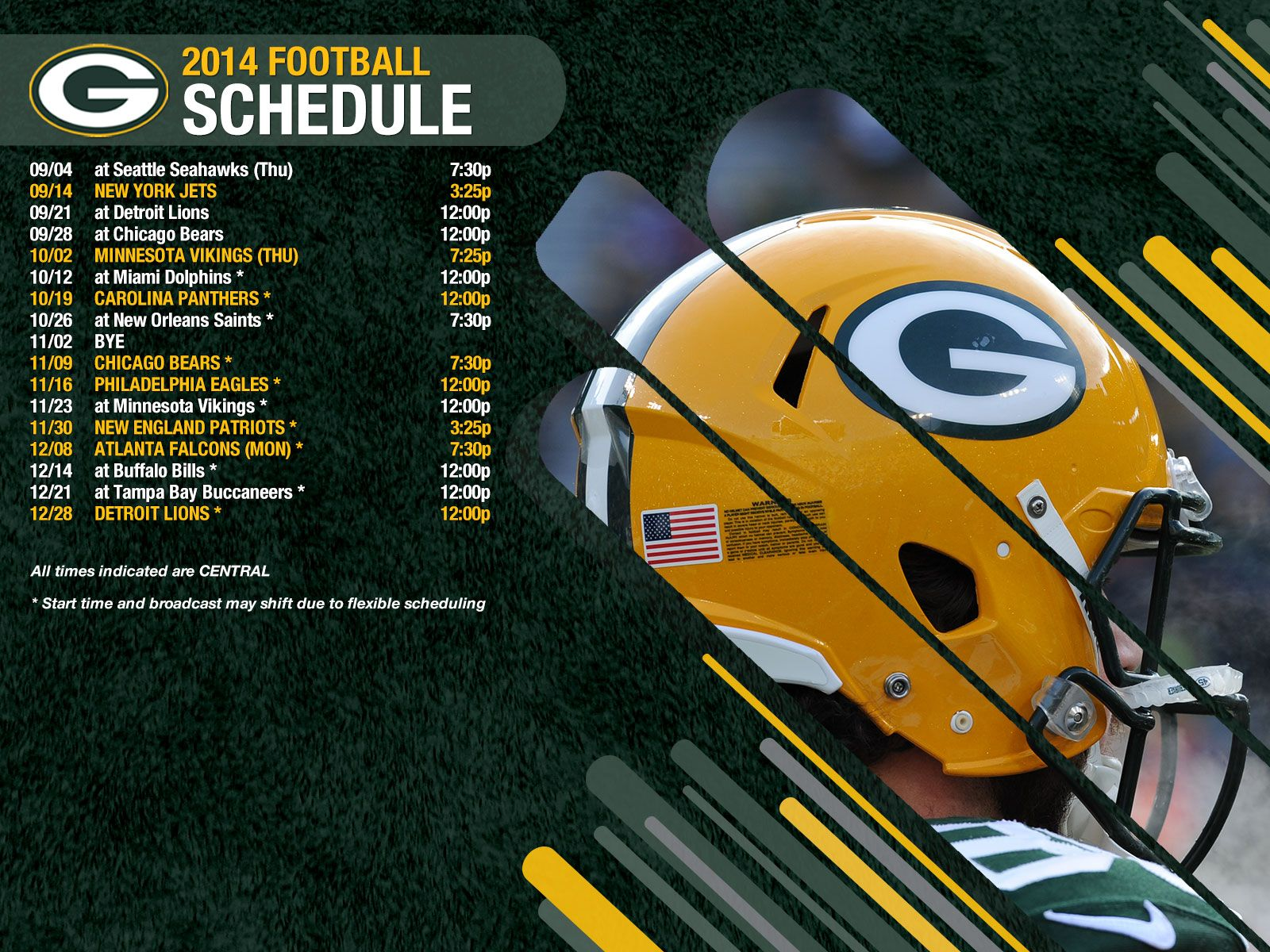 green bay packers schedule wallpaper wallpapersafari