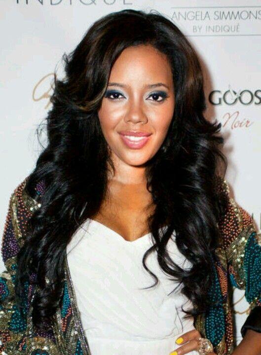Angela Simmons Hairstyles For Black Women Hair Styles Black Hair Extensions Hair Evolution