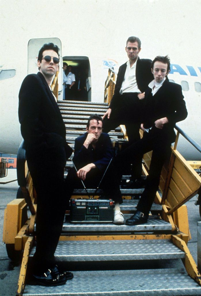 The Clash, legends of music and 1980's rocker fashion. Photo by Rex USA