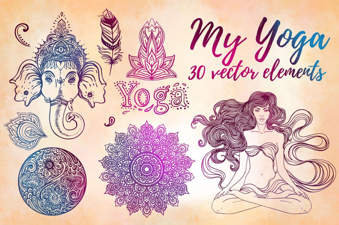 My Yoga 30 Vectors By Varvara Gorbash Thehungry