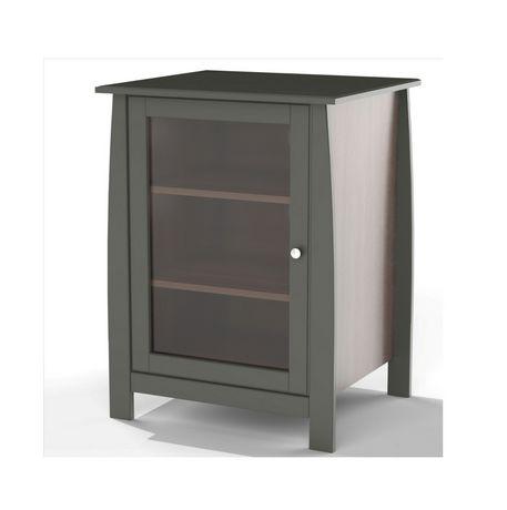 Nexera Pinnacle 1 Door Espresso Audio Tower Black Cheap Home Furniture Living Room Furniture Sale Adjustable Shelving