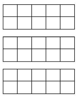 Blank Tens Frames Ten Frame Prek Math Elementary Math