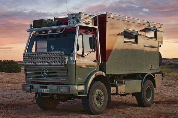 Fernreisenmobil Using A 1978 Mercedes Benz 1017 4 4 Truck As The