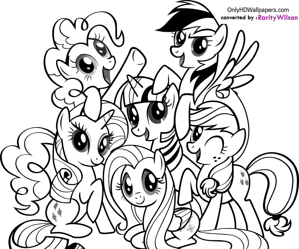 Vintage my little pony coloring pages - Mlp Printable Coloring Pages My Little Pony Coloring Pages Coloring99 Com